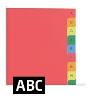 intercalaires alphabetiques ABC