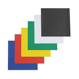 Pack of 6 magnetic plates 15 x 15 cm assorted