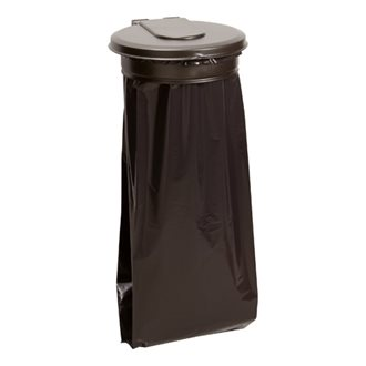 Garbage bag holder for wall 110 liters Rossignol Ecollecto lid dark grey