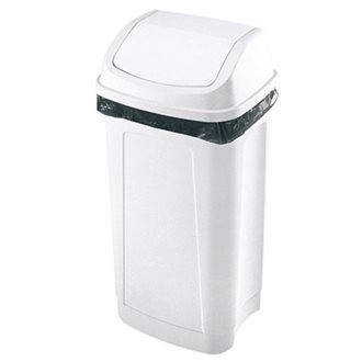 Waste bin plastic 50 litres swing top