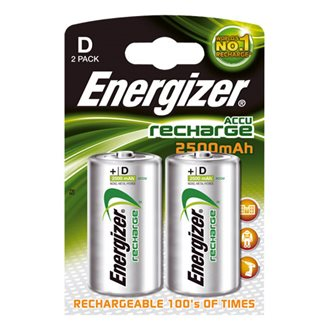 Pack 2 rechargeable batteries Energizer HR20