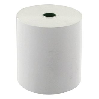 Pack of 10 thermal paper rolls for cash register 1 layer 80 x 80 mm