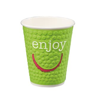"Cup ""Enjoy"" disposable cardboard 20 cl - pack of 90"