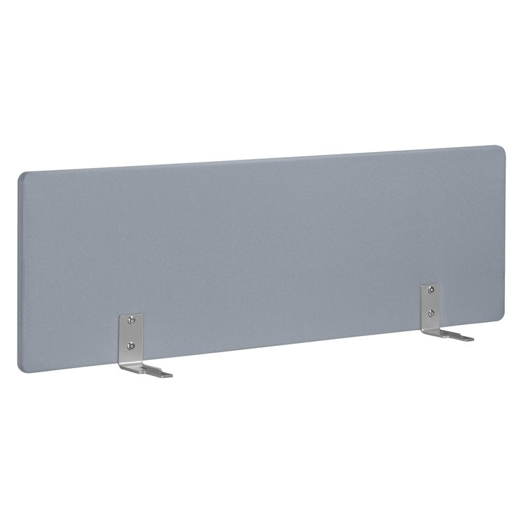 Acoustic desk screen W 140 cm grey for Bench desks