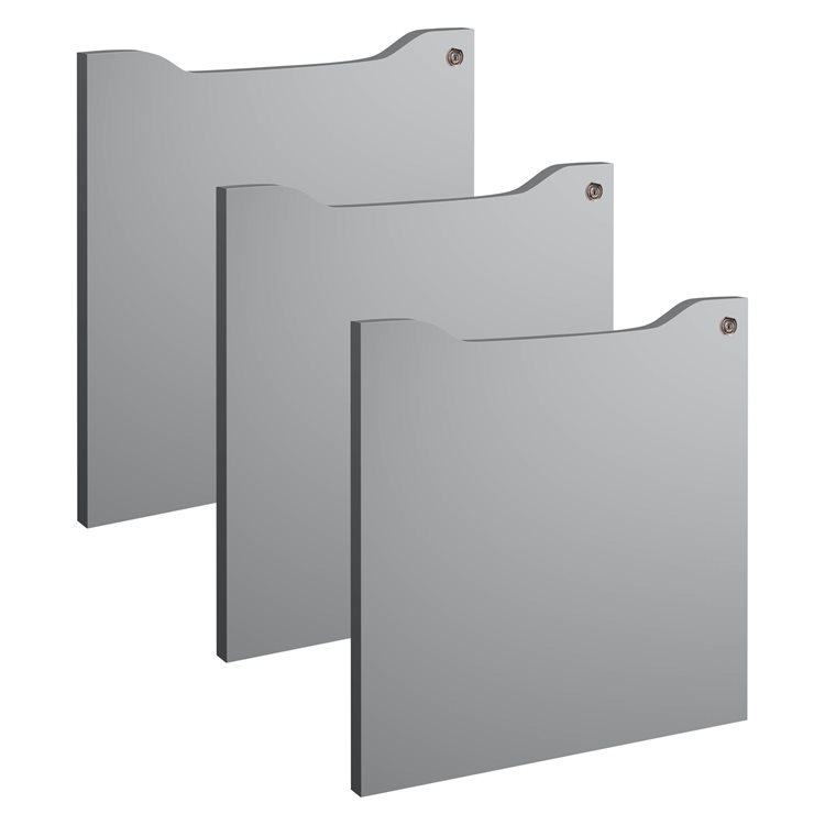 Set of 3 swinging door for cabinets with cases