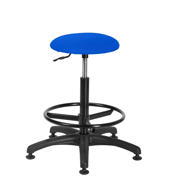 Tabouret Office tissu - pieds patins antidérapants