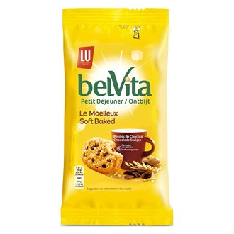 Biscuit Belvita Le Moelleux Choco Noisettes - Format pocket 50 g