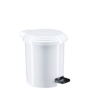 Plastic garbage can 3 L round with white pedal