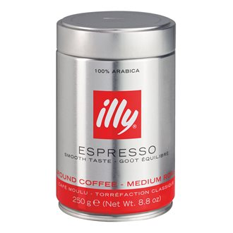 Metallic box coffee powder Espresso Illy 250 g