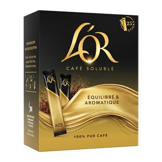 Instant coffee L'Or classic in stick - Box of 25
