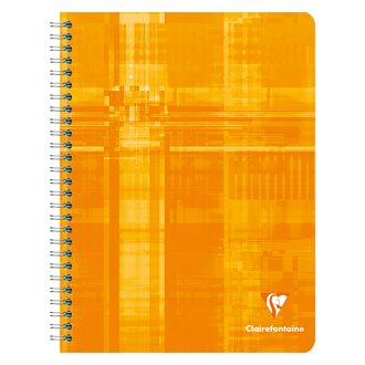 Cahier spirales Clairefontaine Metric 17 x 22 cm grands carreaux 100 pages