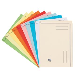 L-sleeves paper A4 120 g assorted colors - pack of 50