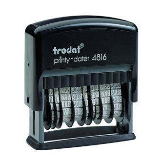 Double date stamp Trodat Printy 4816