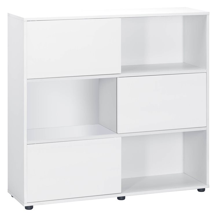 Tetris Bookcase 6 Compartments  and Doors White