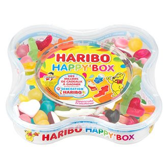Bonbons assortiment Haribo Happy'Box - Boîte de 600 g