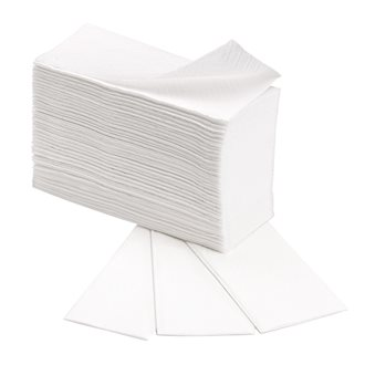 Carton of 4000 paper towels Bruneau- Z-folded