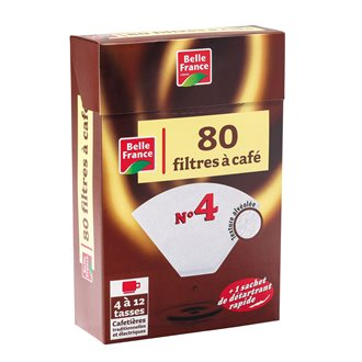 """Box 80 coffee filters 1x4, """"belle France"""""""