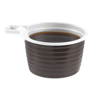 Tasse monobloc jetable plastique 18 cl marron - Lot de 800