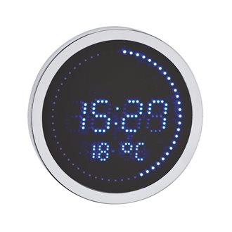 Round LED clock aluminium - Quartz