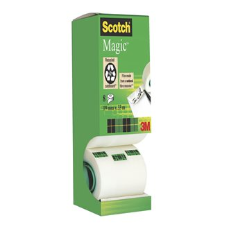 Pack 7 + 1 Scotch Magic invisible tape 19 mm x 33 m