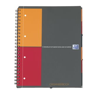 Cahier spirales Oxford International Organiserbook A4+ petits carreaux 160 pages