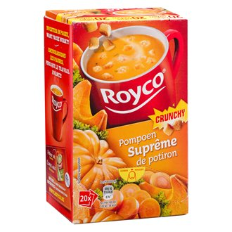 Box of 20 bags Royco Minute Soup Pumpkin with crusts