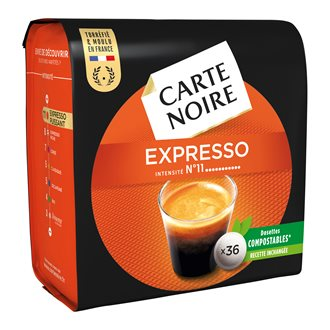 Coffee pads Carte Noire Espresso n°11 - pack of 36