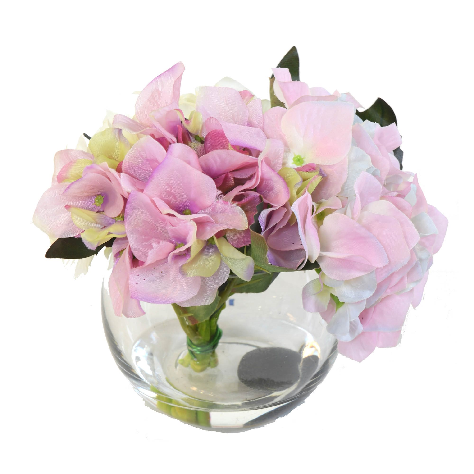 Flower Piece With Artificial Flowers Hortensia 3 Colors Floral
