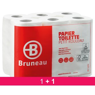 Pack 1 +1 toilet paper double thickness Bruenau - pack 48 rolls with 200 sheets