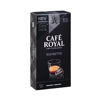 Coffee capsules Café Royal Ristretto - box of 10
