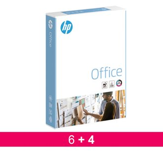 Pack 6 paquetes Papel blanco A4 80 g HP Office+ 4 GRATIS