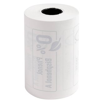 Paper roll without phenol for credit card terminals 57 x 40 mm