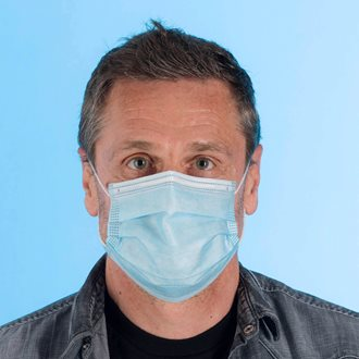 Surgical type 3 ply protective mask