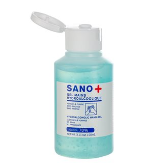 Disinfecting hydroalcoholic gel Sano+ - bottle of 100 ml
