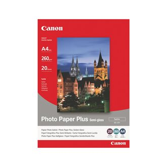 Box 20 sheets of photo paper Canon SG 201 A4