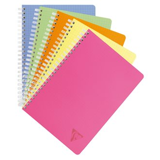 Cahier spirales Clairefontaine Linicolor 17 x 22 cm seyes 100 pages