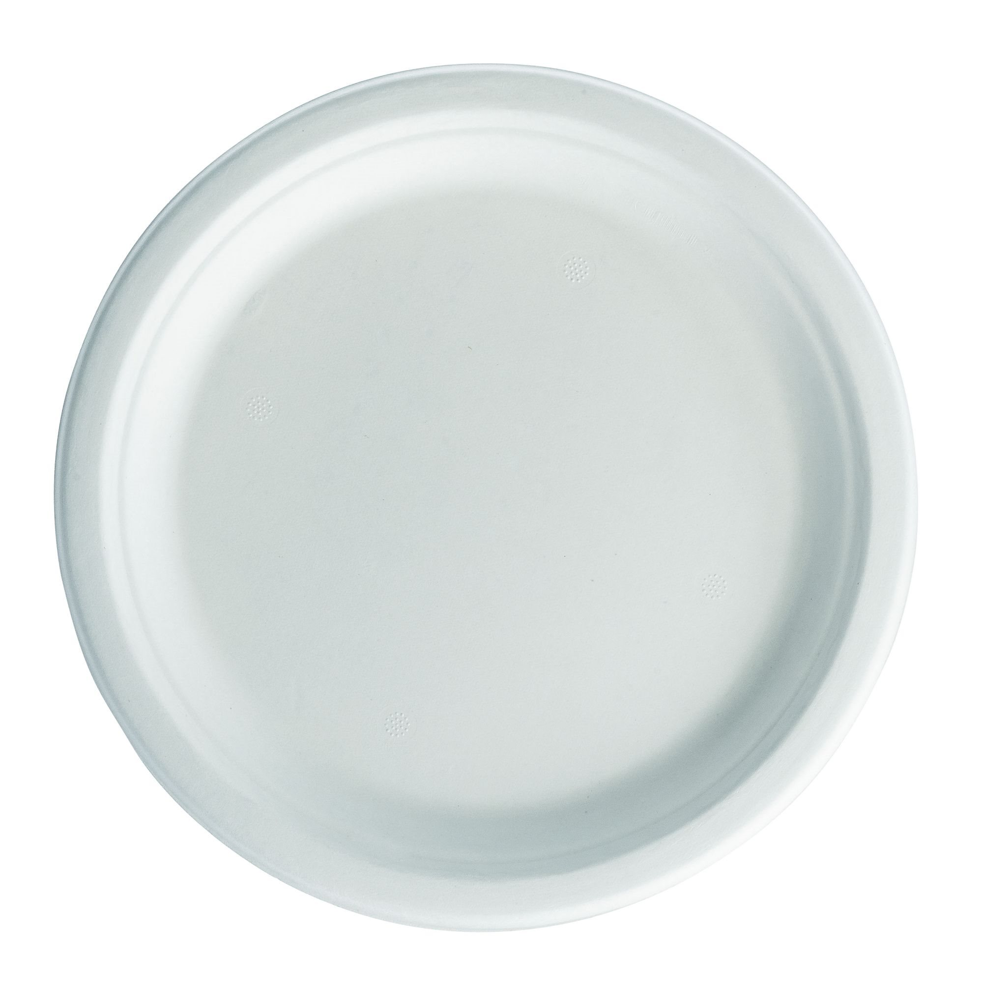 check-out 6a268 4d50d Assiette Biodégradable blanche - Lot de 50