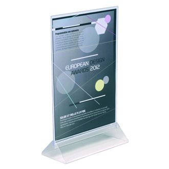 Literature display case double-sided format A4