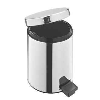 Garbage can 3 L Brabantia round with pedal in glossy inox