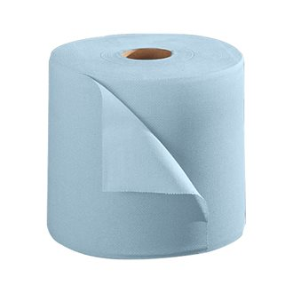 Pack of 2 hand towel rolls industrial eco blue