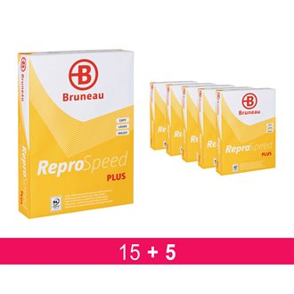 Pack 15 + 5 reams paper Bruneau Reprospeed Plus A4, 80 gr - white