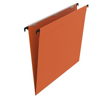 Suspension files for drawers 33 cm in kraft budget 210 g normal bottom orange