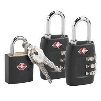 Pack 2 TSA combination padlocks + 1 TSA padlock with 2 keys free