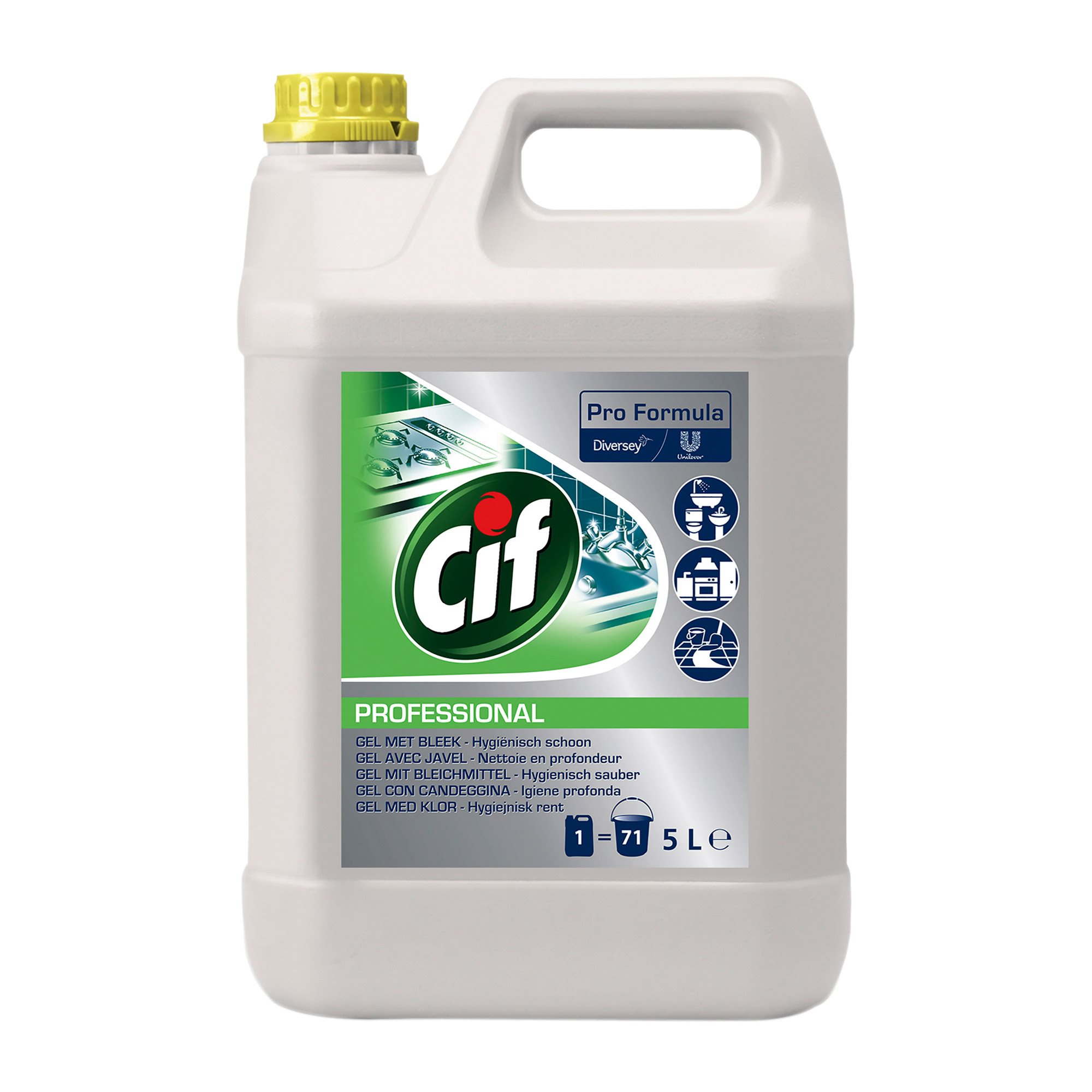 Can of 5 L cleanser Javel Cif Prof