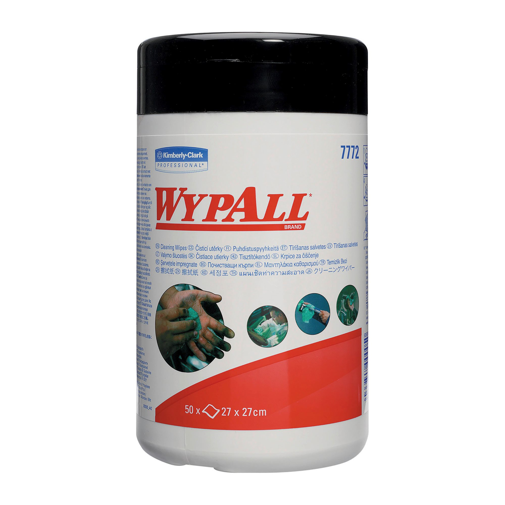 Humid cloths for hands and surfaces WypAll® - box of 50