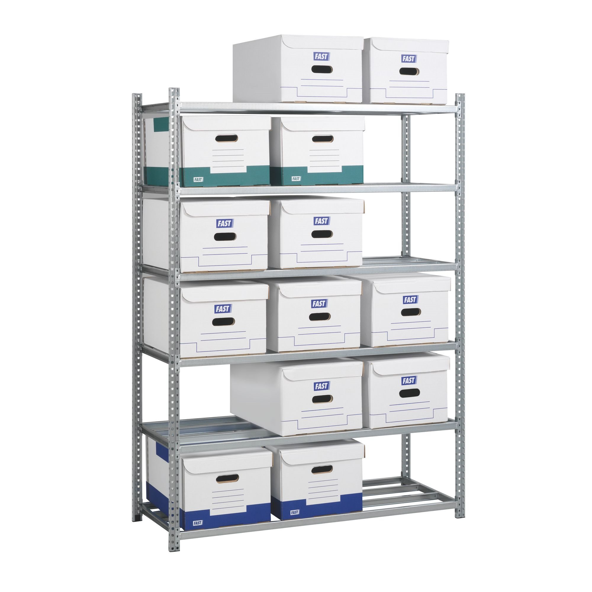 Office rack for archive boxes 176x128x50