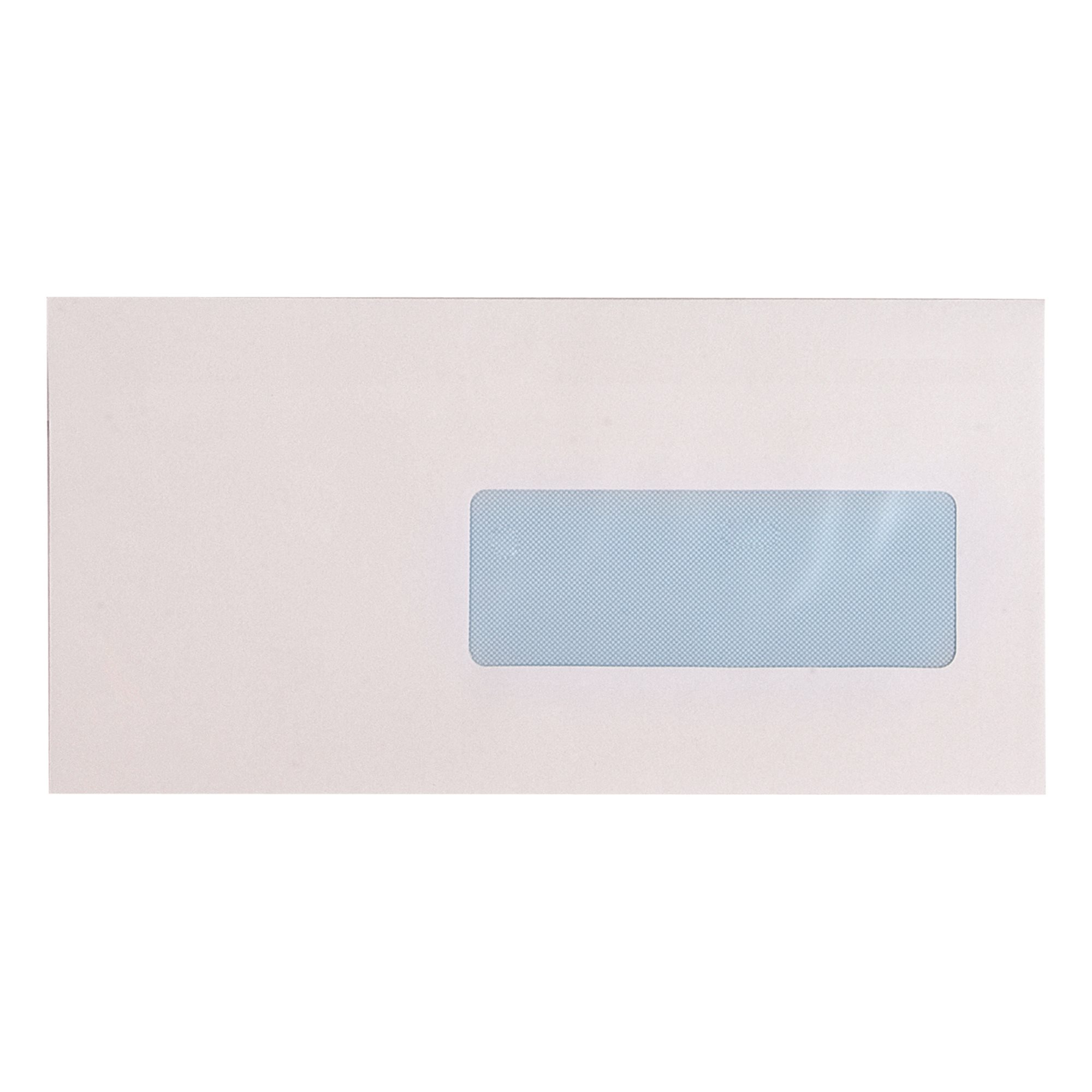 Box of 500 envelopes 114 x 229 mm - with window 40 x 110 mm - self-adhesive flap with protective strip
