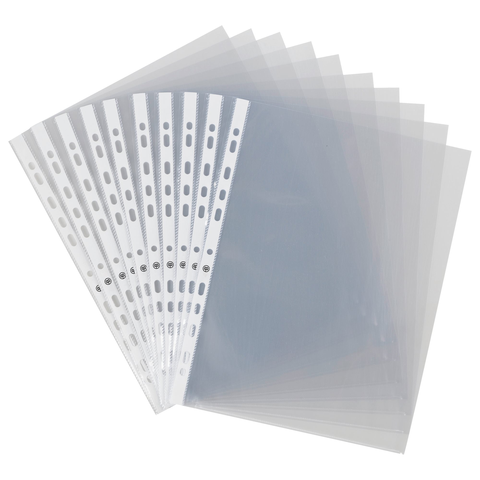 Pack of 200 perforated sleeves Bruneau A4 smooth polypropylene 11/100e + 100 for free