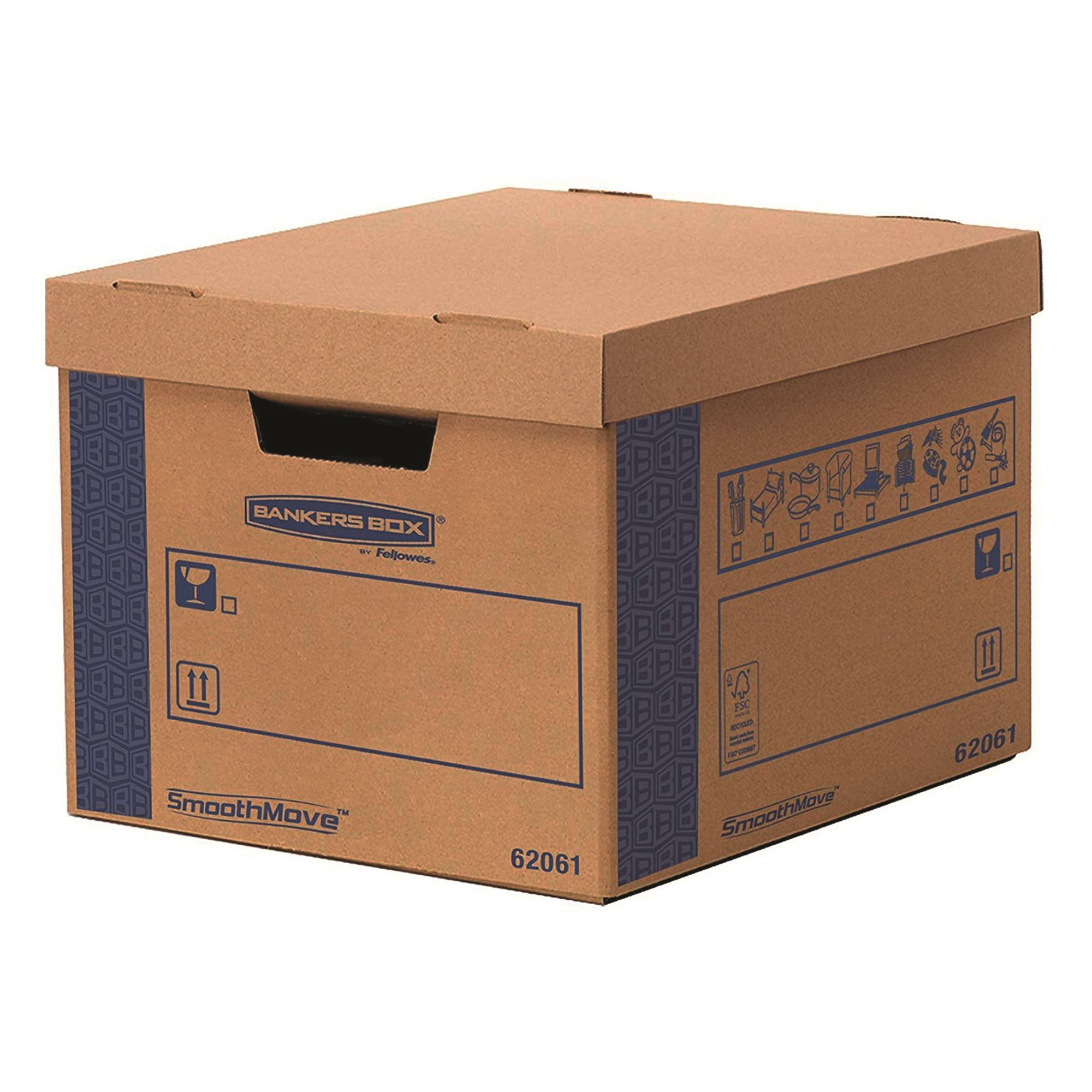 Moving box with automatic folding system SmoothMove Prime FastFold Box Fellowes