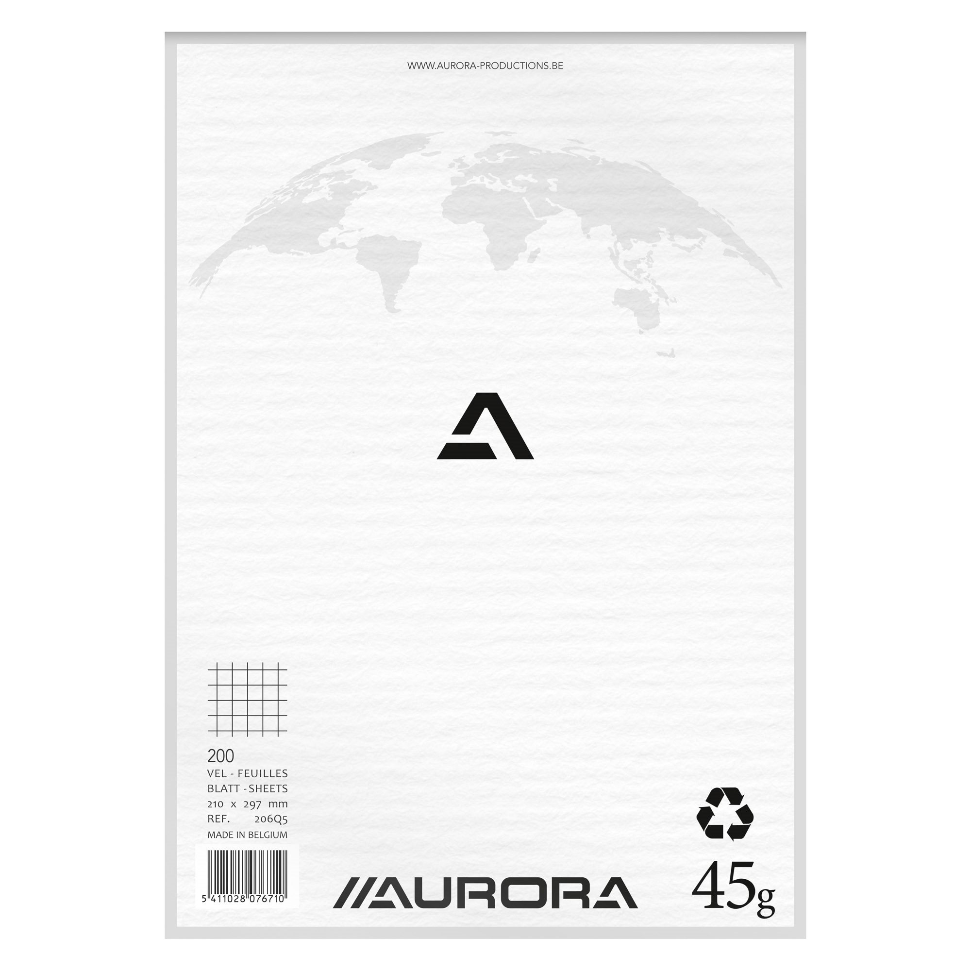 Notepad Aurora A4 210 x 297 mm 5 x 5 200 pages